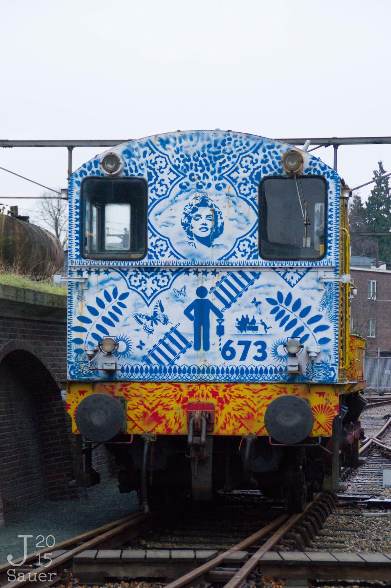 Delfts blauwe trein