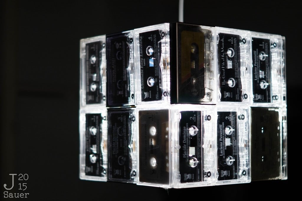 Retro cassettes lampshade
