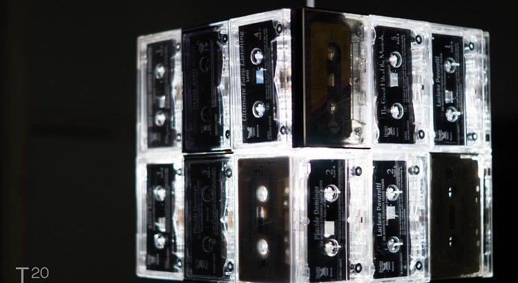 Retro cassettes lampenkap
