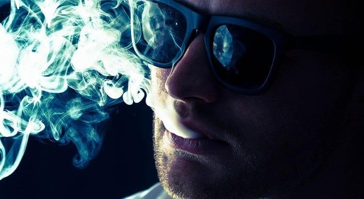 Mike Sauer smoking