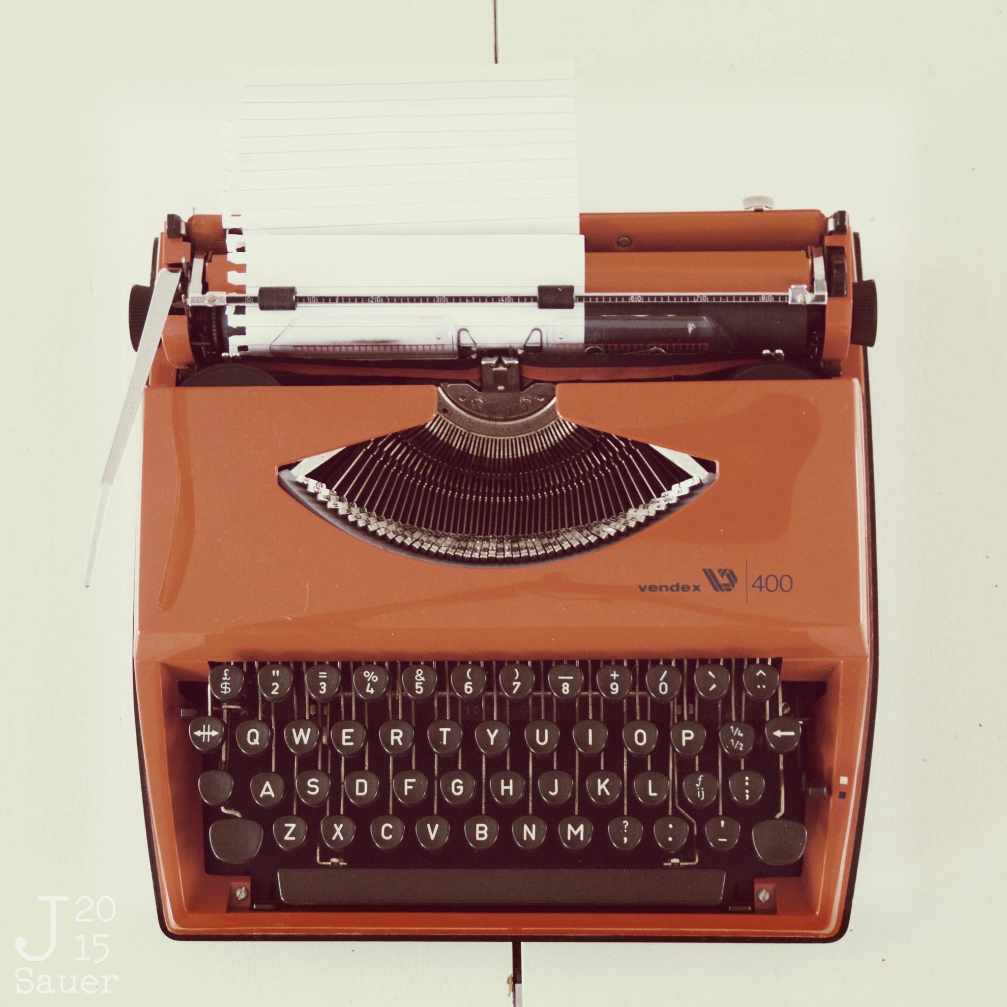 Tekstbureau 't Kofschaap retro typmachine lomo