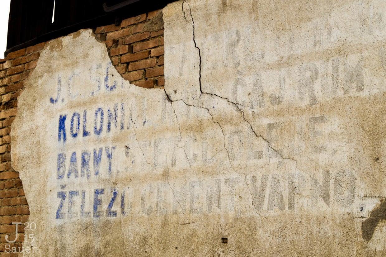 Tekst op muur Tsjechië