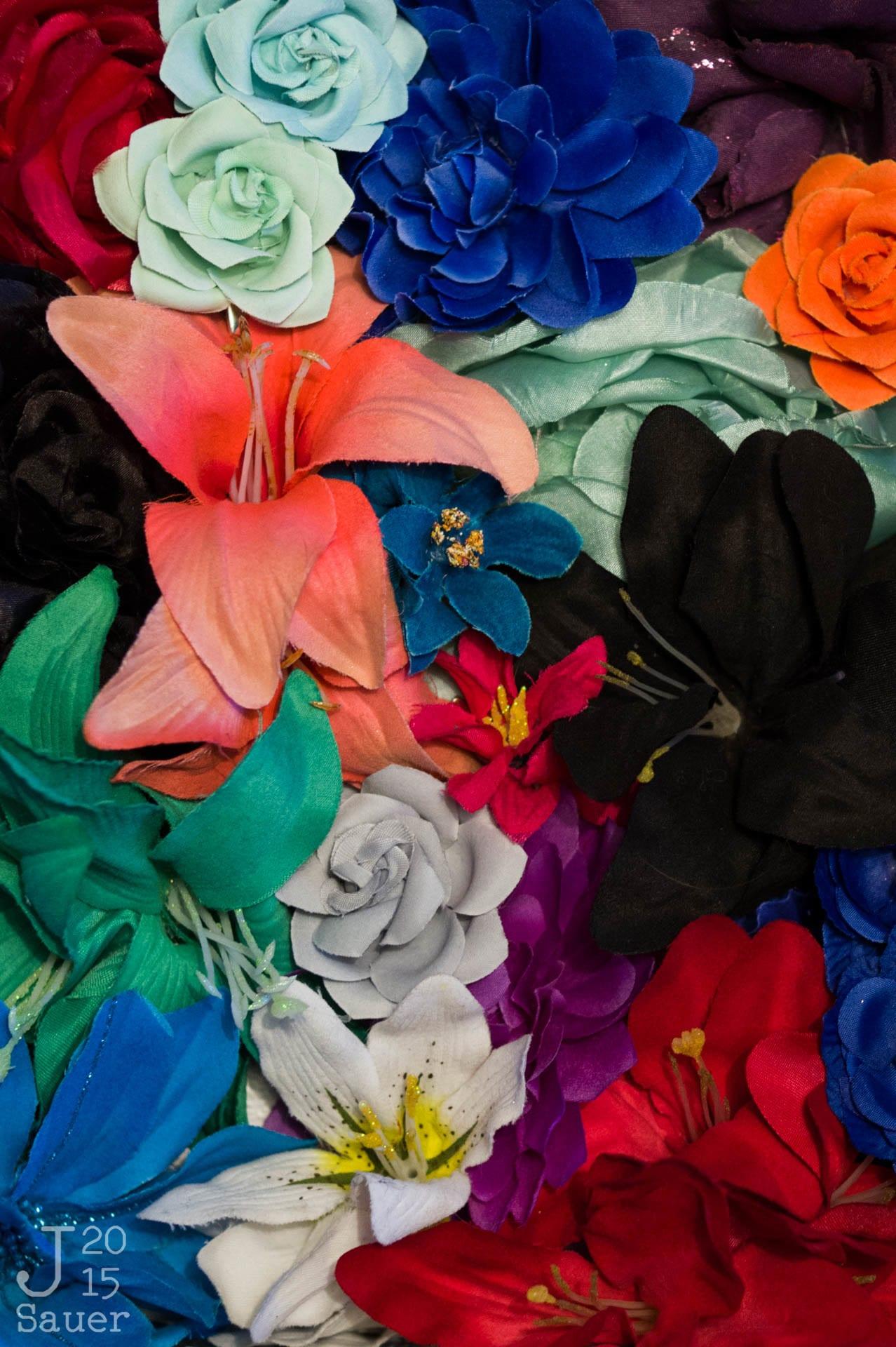Bloemen met Colorchecker